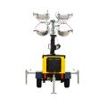 Luz de torre de haleto de metal móvel de gerador silencioso a diesel