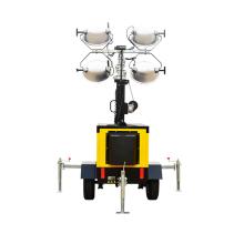 Бесшумный дизельный генератор передвижной металлогалогенный светильник в башне