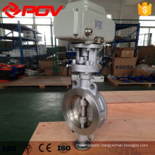 high quality wafer connection metal seal butterfly valve