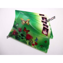 2015 Green Lenticular Sticker Card with Butterfly