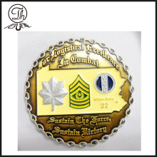 Tourism souvenirs custom design pure silver coin