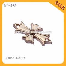 MC465 custom metal cogo plate logo label for handbags/t-shirt/denim