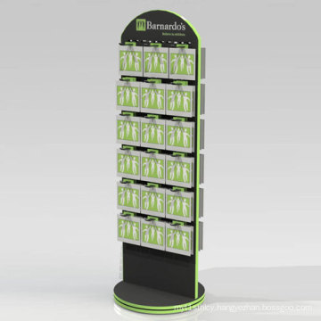 Rotating POS Display Rack with Hooks