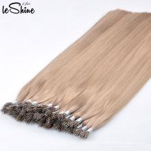 Extensión Nano del pelo del anillo de la queratina italiana dibujada doble de la alta calidad al por mayor del 100% Remy