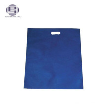 Cheap blue printed non-woven custom made shopping handle bags