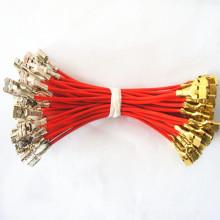 Arnés de cable del conector .187 electrónico personalizado