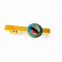 Металлический золотой галстук для подарочной упаковки (m-TB03)