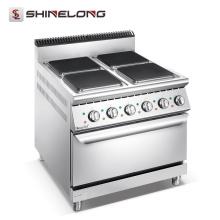 Cocedor eléctrico de placa caliente de 4 series 900 con horno (placas cuadradas)