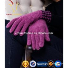 100% mongolian cashmere gloves mulheres cashmere luvas de malha