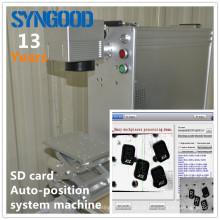 Auto-Posição Sistema Fibra laser micro sd cartão de memória marcação máquina Syngood100 * 100MM 10W / 20W / 30W
