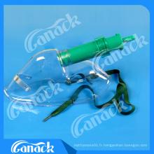 Masque jetable de venturi d'oxygène du CE de PVC de catégorie médicale