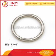 """3,0 * 1 """"Eisen-Material o Ring für Beutel"""