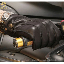 ZF5628 italiano de alta calidad Cashmere forrado de Deerskin Guantes de conducción para los hombres
