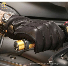 ZF5628 Italian high quality Cashmere Lined Deerskin Dress Driving Gloves for men