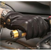 ZF5628 italiano de alta qualidade cashmere forrado Deerskin vestido de condução luvas para os homens