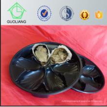 Heißer Verkauf China Globaler Großhandel Thermogeformter Blister Verpackung Schwarz PP Oyster Plastikbehälter mit Export Qualitätsstandard