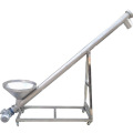 Screw augers conveyor with hopper