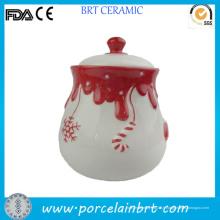 Pot décoratif de Noël au miel avec couvercle