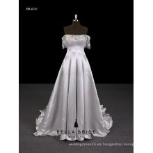 2017 Nuevo vestido de noche elegante del abastecedor de Guangzhou del diseño de largo con el apagado-hombro