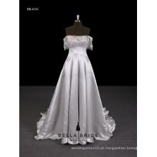 2017 Novo design Guangzhou fornecedor elegante vestido de noite longo com ombro