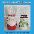 Objet populaire mignon porte-objets en céramique en forme de Santa