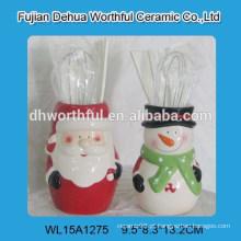 Item popular bonito Natal Santa forma cerâmica utensílio titular
