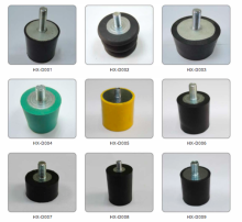 Injection moulding Rubber vibration wedges