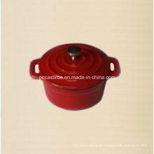 Esmalte ferro fundido mini caçarola diâmetro 10 centímetros