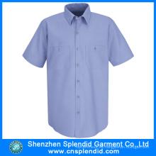 Ropa de trabajo al por mayor barata del algodón de la tela cruzada de los hombres de la ropa