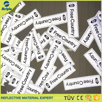 Parche de tela reflectante, etiqueta de tela reflectante para la ropa
