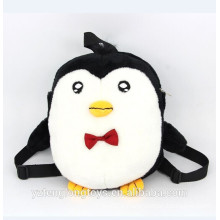 Sac à dos en forme de pingouin drôle sac à dos en peluche pour enfants