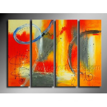 Framed Hand Painted Modern Abstract Oil Painting on Canvas
