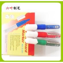 Caneta de marcador de quadro branco de tinta recarregável não tóxica (G-201), papelaria caneta seco caneta de marcador de ouvido