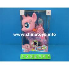 Brinquedo de cavalo de alta qualidade plástico animal com música (1029001)