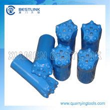 Pedacitos de botón cónicos perforados con 7 botones