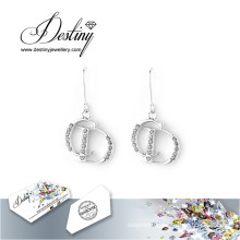 Destiny Jewellery Crystals From Swarovski Earrings Letter Earrings