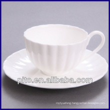 P&T chaozhou factory bone China 200ml coffee cup and saucer, tea cup and saucer