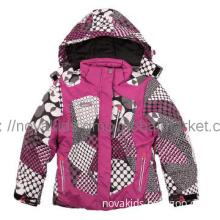 kids wear  girl winter warm colorful jacket ski suit coat