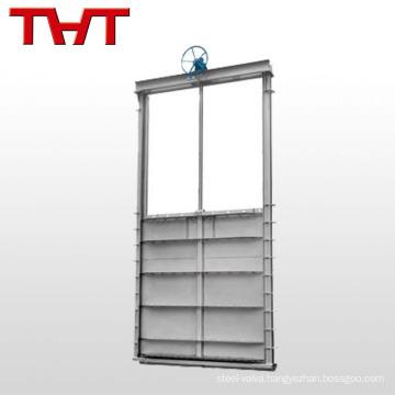 motorized stainless steel square wall penstock valve