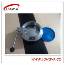 Válvula de borboleta sanitária de tamanho grande 304 de aço inoxidável