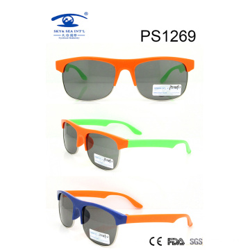China Wholesale Large Frame Colorful Children Sunglasses (PS1269)