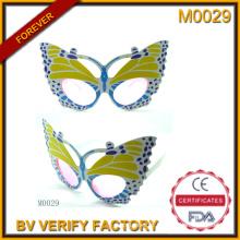M0029 nova borboleta forma plástico quadros compõem festa óculos de sol