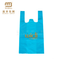 Fabrik-Verkauf kundengebundene kompostierbare EPI D2W PLA Mais-Stärke 100% OXO biologisch abbaubare Plastik-T-Shirt Taschen