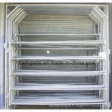Panneaux en aluminium de barrière de barrière de fer de panneau de barrière de ferme facilement assemblés et démontés