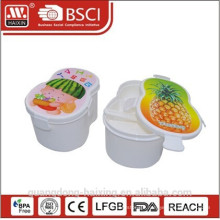 Carton Shape Plastic Lunch Food Container Box