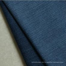 Hot merzerisierter Baumwolle / Spandex Denim-Stoff mit Slub