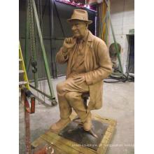 Artista Preston infame ataca escultura de bronze BS024A