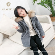 Высокое качество натурального меха пальто роскошные дети