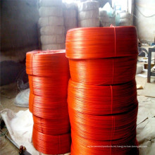 Cable de hierro galvanizado recubierto de PVC rojo