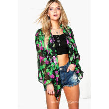 Bright Tropic Print Women Kimono